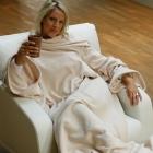 Lounge-Decke mit Ärmeln Napelino Creme