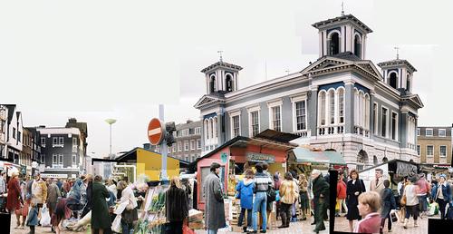 kingston-market-place-early 80s - power dressing, fur coats...