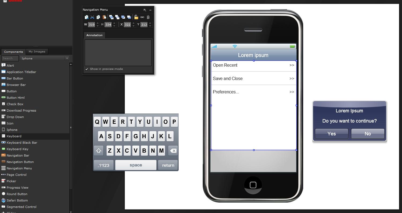 Screenshot of iPlotz application